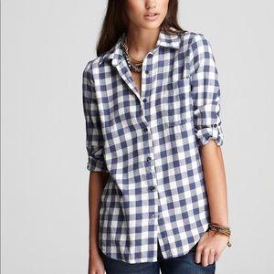 Splendid Newberry Gingham Button Down Shirt Sz S
